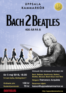 Affisch Bach2Beatlesmaj2018